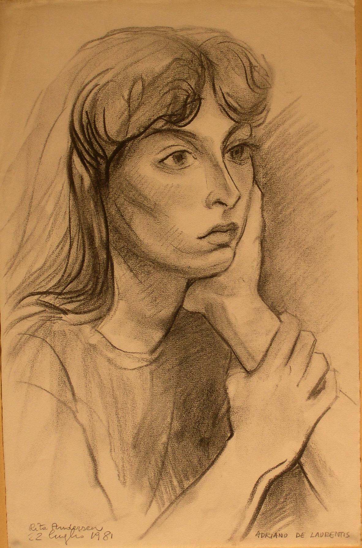 Rita Andersen - Matita su Carta - 48x31 - 1981