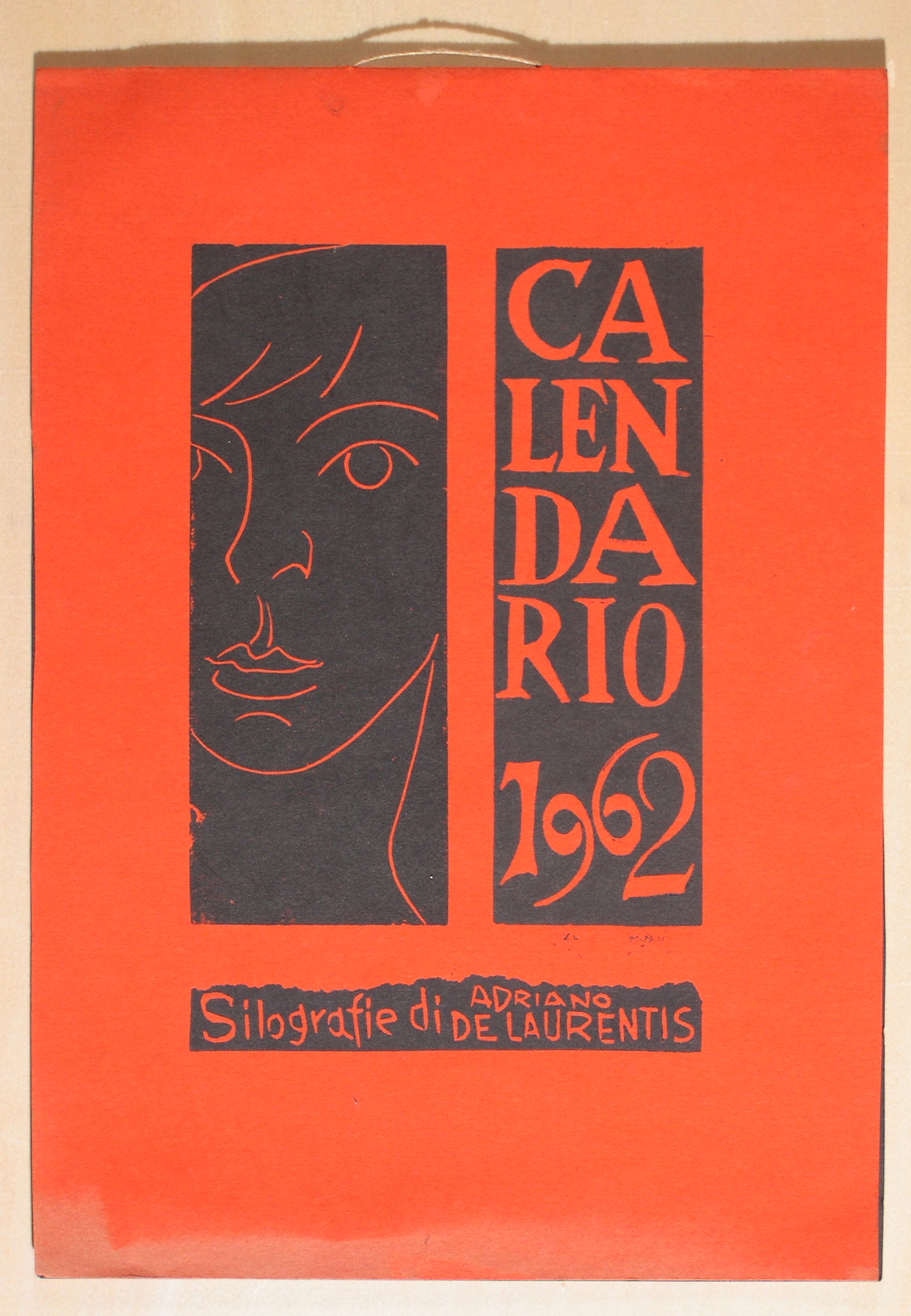 Calendario 1962 copertina - Xilografia su Carta - 35x25 - 1962