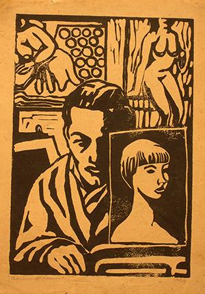 Xilografia su Carta - 35x25 - 1959