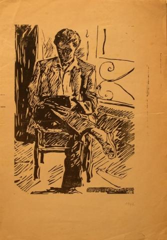 Xilografia su Carta - 50x35 -1947