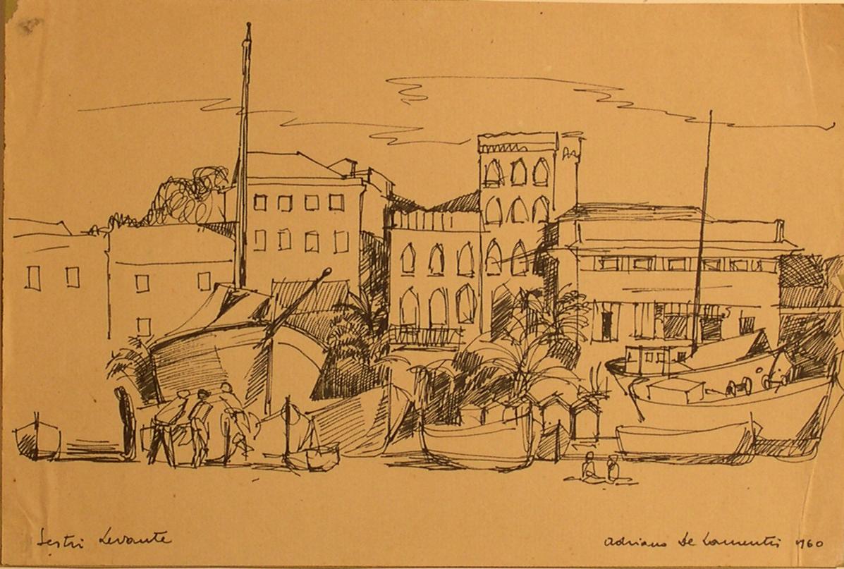 Sestri Levante - Penna su Carta - 22x33 - 1960