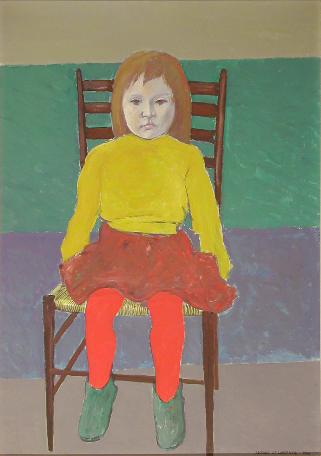 Daniela - Olio su Truciolare - 100x70 - 1968