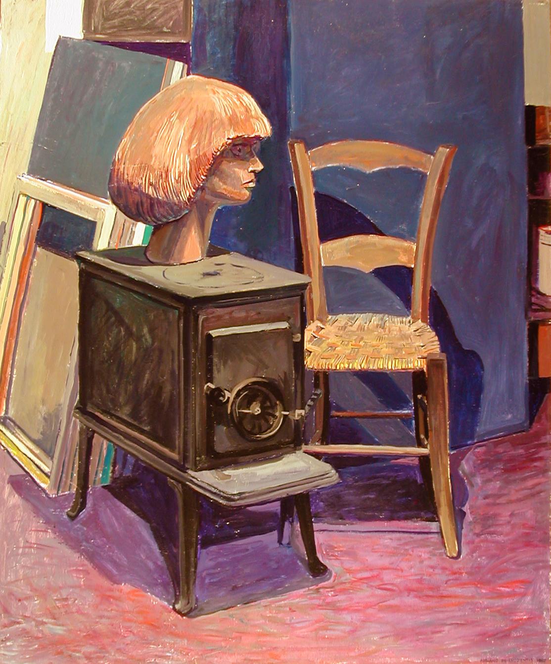 Composizione nello studio - 1987 - Tempera Acrilica su Tela - 120x100