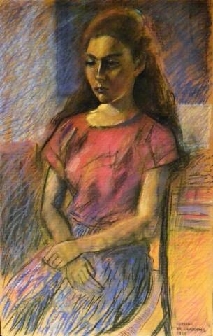 Senza Titolo - 1986 - Pastello su Carta - 96x61