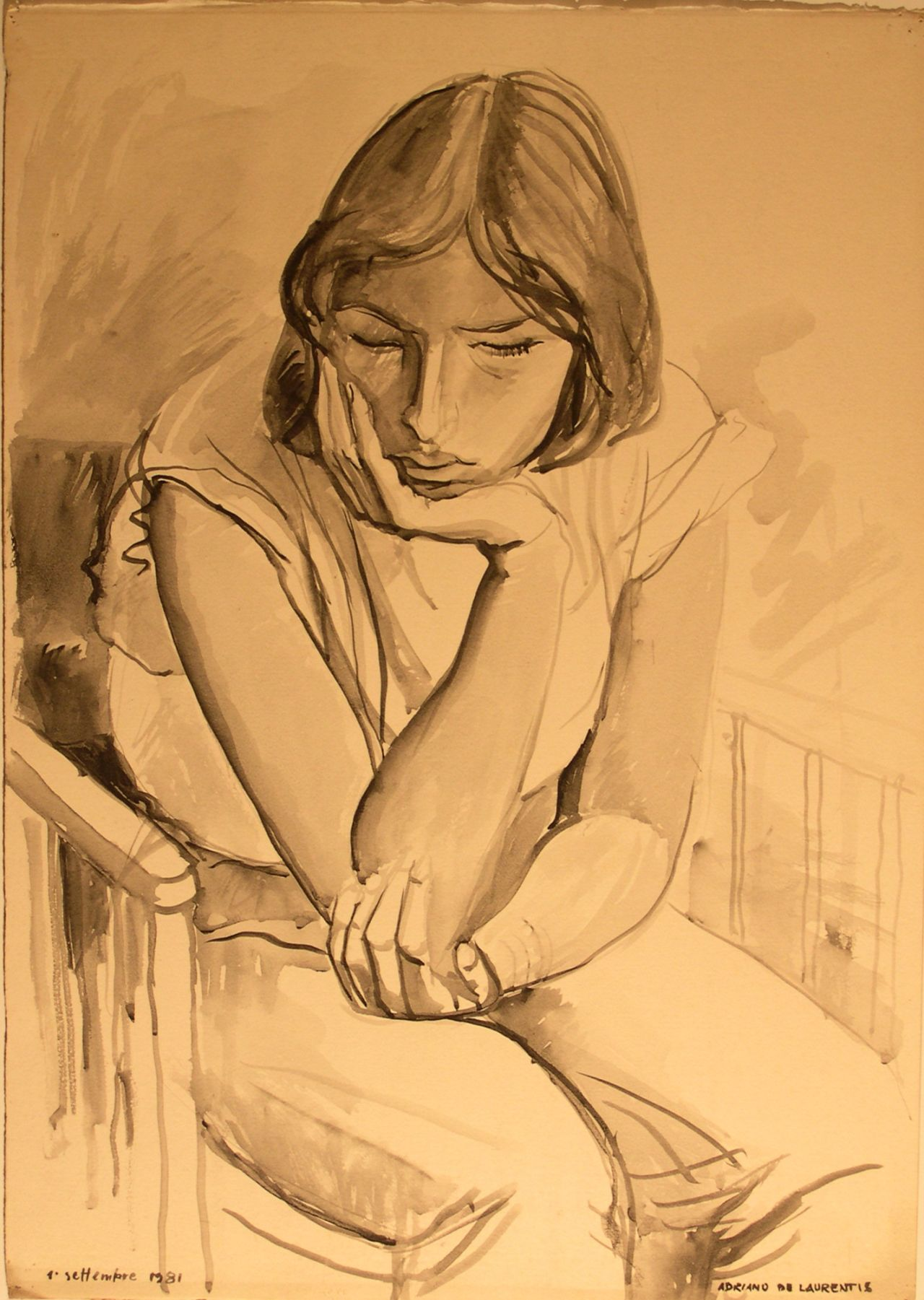 Senza Titolo - 1981 - Gouache su Cartoncino - 71x50