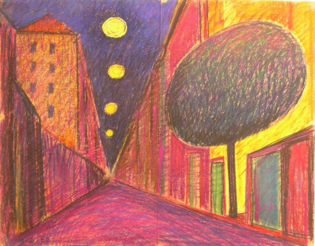 Senza Titolo - 1983 - Pastello su Cartoncino - 63x79