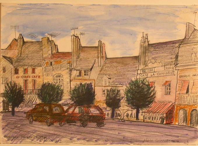 Place Gernot (Beaune) - Tenica Mista su Carta - 30x42 - 1982