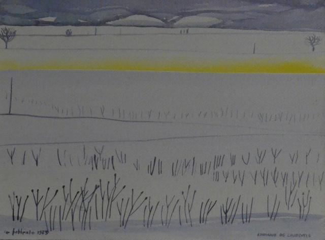 Senza Titolo - 1983 - Acquerello su Cartoncino - 24x32