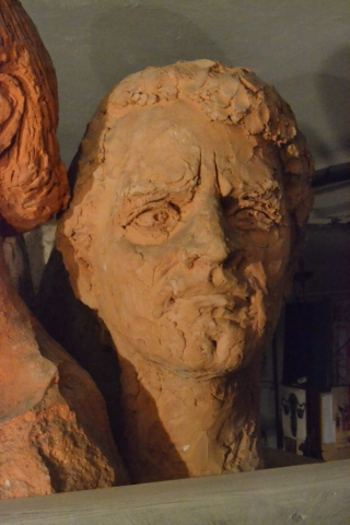 Adriano - Scultura in Terracotta - 50x19x24 - 1970