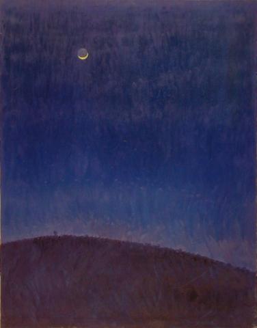 La Luna e la Quercia - 1992 - Olio su Tela - 90x70