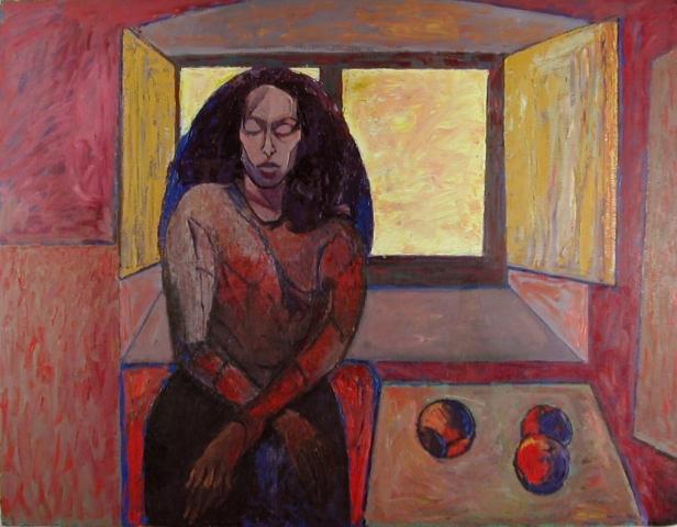 Senza Titolo - 1996 - Olio su Cartone - 106x136