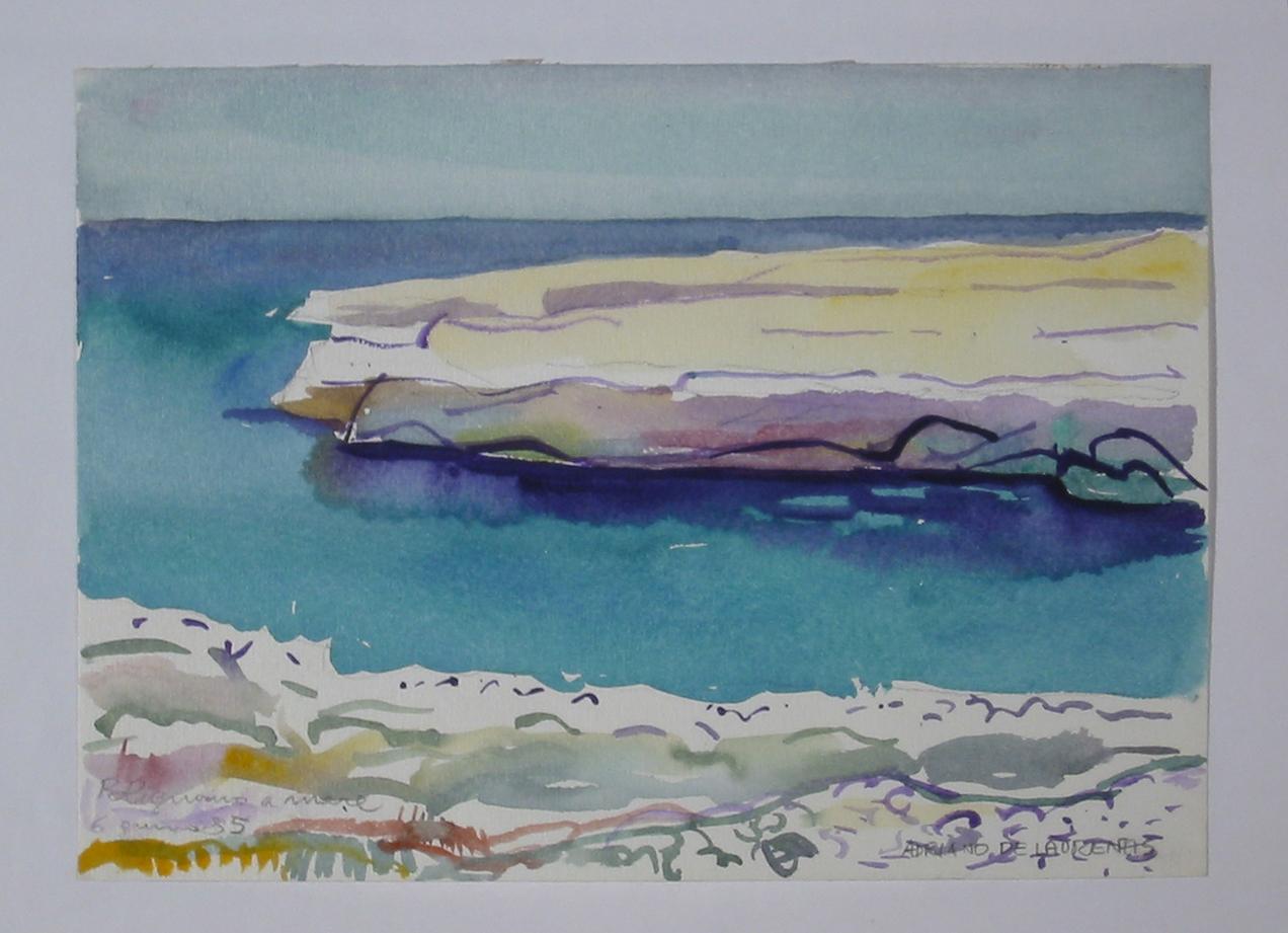 Polignano a mare - Acquerello su Carta - 17x24 - 1985