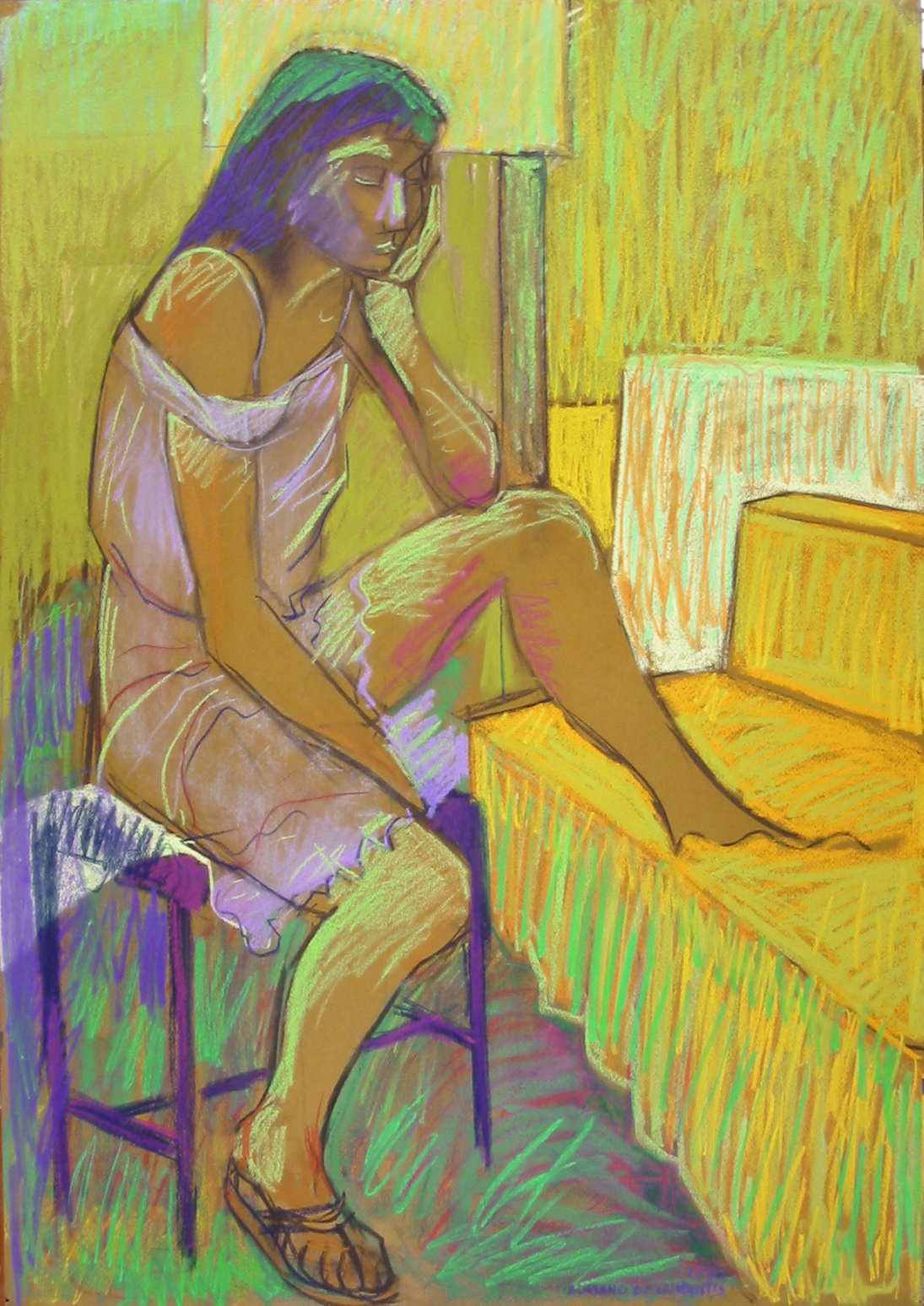 Senza Titolo - 1990 - Pastello su Cartoncino - 100x70