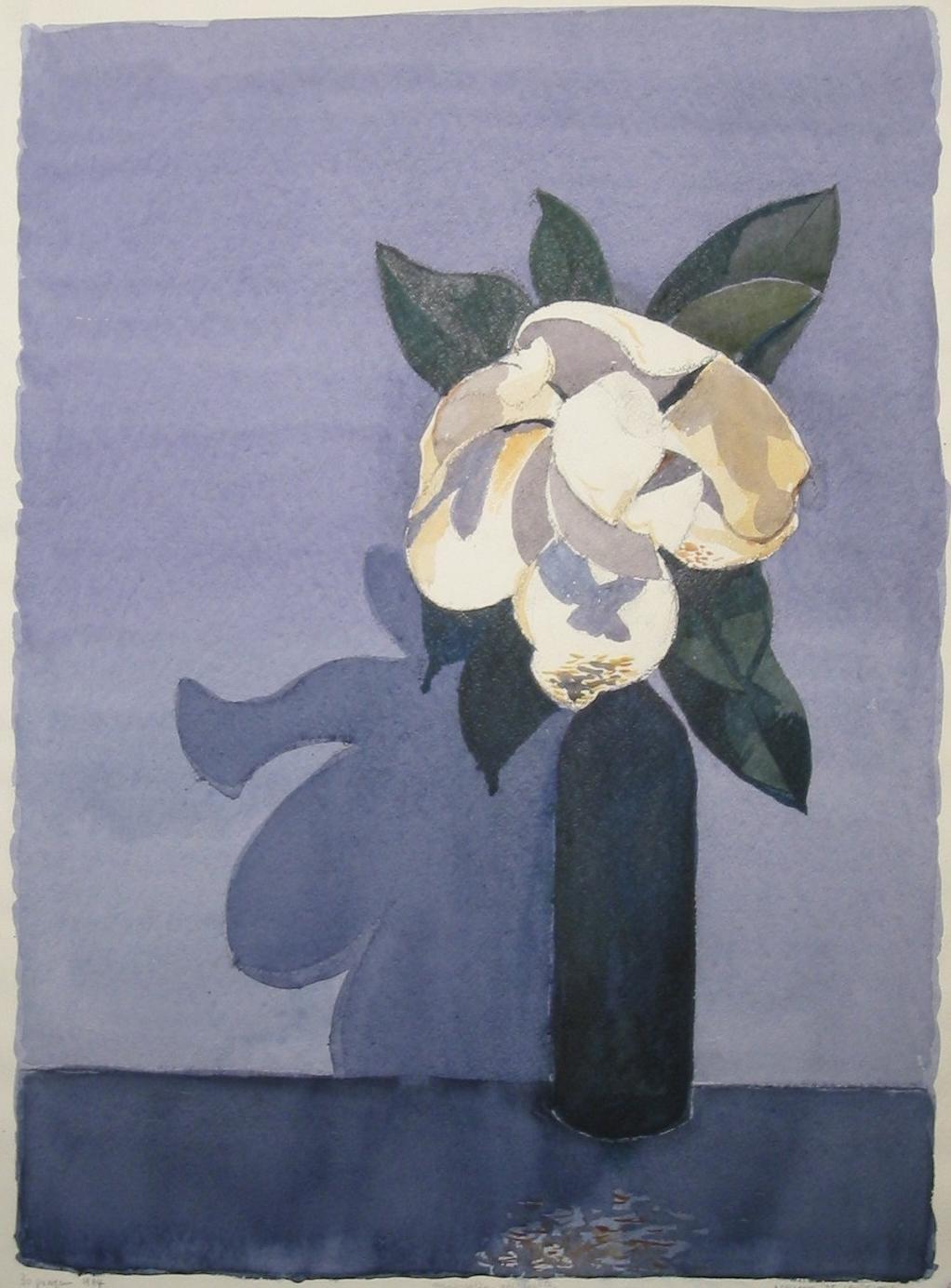 Magnolia Appassita - 1994 - Acquerello su Cartoncino - 75,5x56