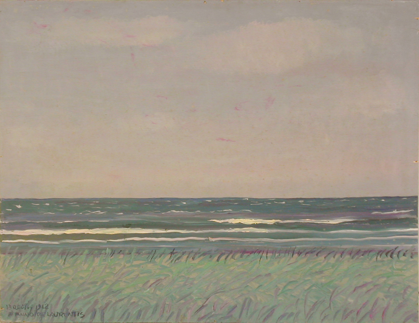 """""""Vento di mare"""" (Danimarca) - Olio su Tavola - 50x65 - 1982"""