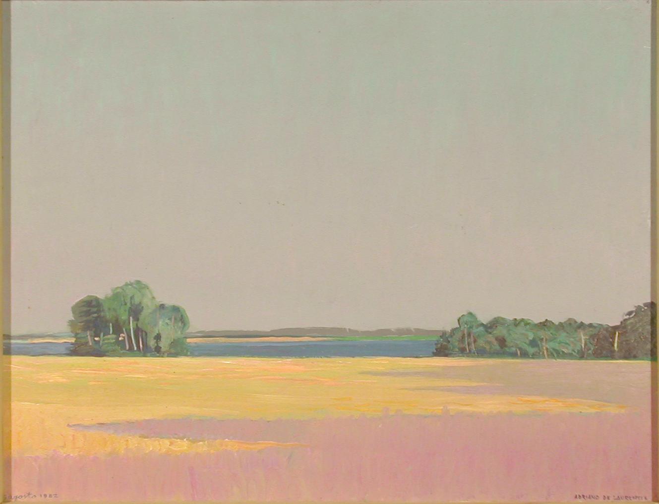Ombre viola (Danimarca) - Olio su Compensato - 50x65 - 1982