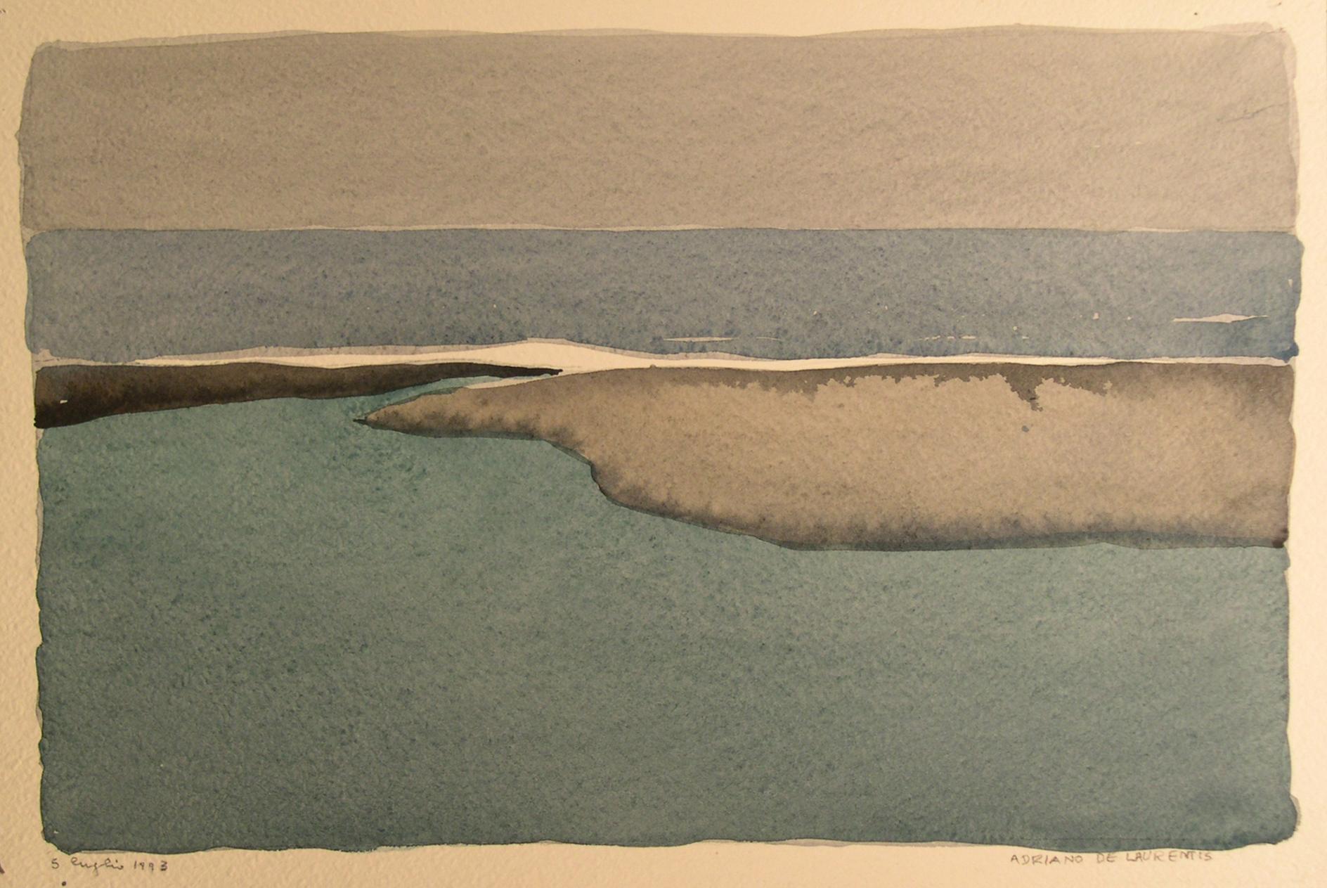 Senza Titolo - 1993 - Acquerello su Cartoncino - 22x34