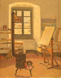 Il primo studio in via Doria - Olio su Tela - 65x50 - 1956