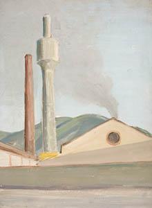 Riva Trigoso - Olio su Cartone - 37x27 - 1950