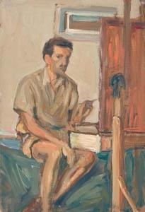 Autoritratto - Olio su tavola - 28,5x19 - 1940