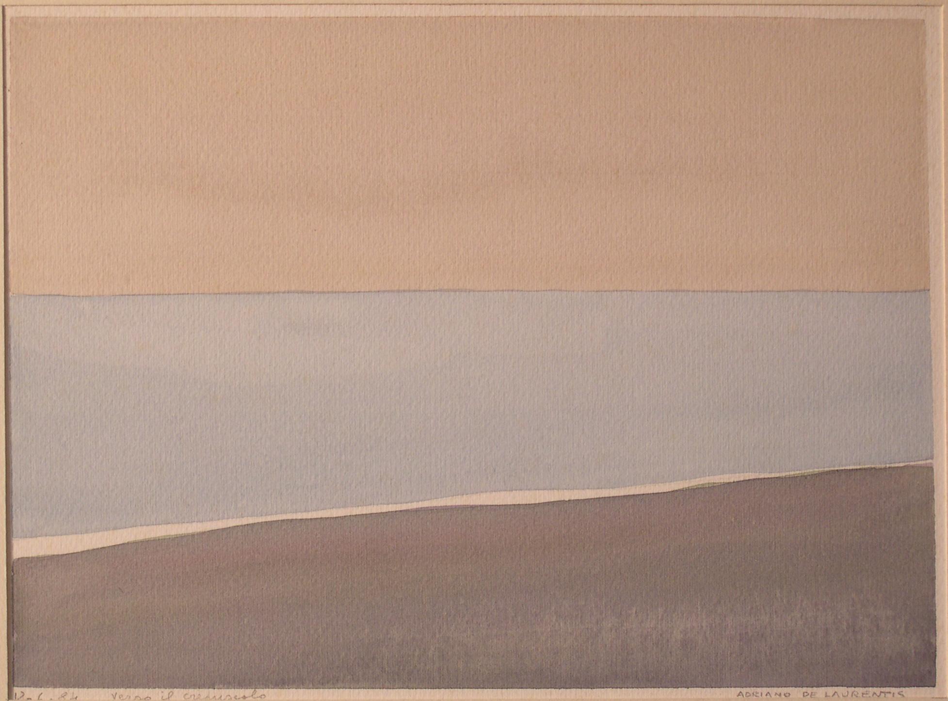 Verso il crepuscolo - Acquerello su Cartoncino - 21x30 - 1984