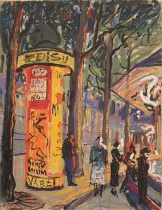 Parigi - Tempera su Cartoncino - 65x50 - 1956