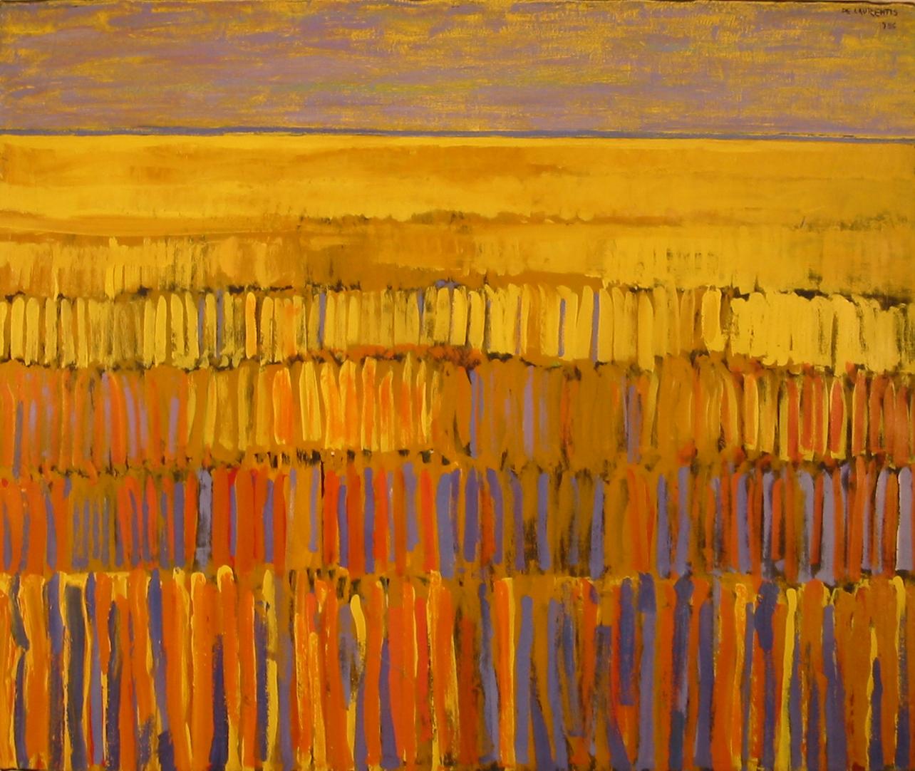 Campo di grano - 1986 - Tempera Acrilica su Tela - 100x120