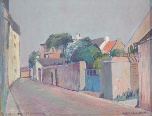 S. R. Quiberon - Olio su Tavola - 50x65 - 1982